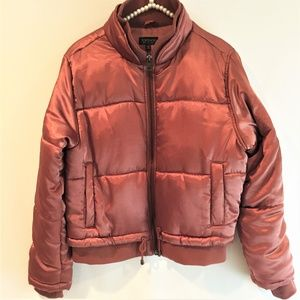 Topshop Rust colored Puffer Jacket - Size US 8